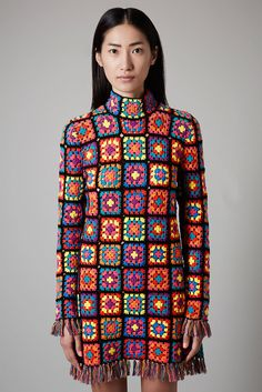 afternoonowldesigns: This Top Shop Crochet Granny Square Dress...
