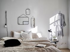 15 dreamy bedroom spaces to inspire. These serve as a reminder that so much can still be done with small spaces. When can I move in? Want some more interior inspo? Check out the below: View Post Cozy Bedroom, Bedroom Decor, Home Interior, Interior Design, Monochrome Interior, Minimal Bedroom, Deco Design, Scandinavian Home, Headboards For Beds