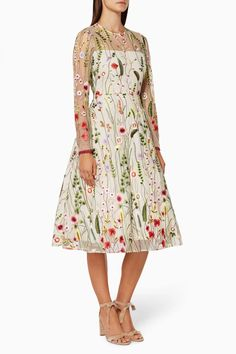 Shop Luxury Alexis Floral Embroidered Lou Dress | Ounass UAE