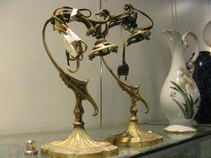 Lampes en bronze. Style rocaille.
