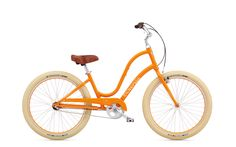 Remember fun? Imagine where you could go on a BALLOON 3i by Electra--available in tangerine. Explore the wide variety of stylish, creative designs and find the perfect Townie to suit your individuality and imagination.  This is the perfect bike for cycling around Seaside.  Love it.  My color, too!