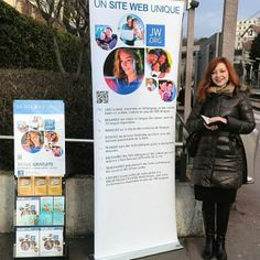 Suresnes, France - Sharing with the public what the Bible teaches and announcing The Good News of God's Kingdom to Come on Earth! -www.jw.org for Bible based information in 600 languages!   --Photo shared by @yves92150