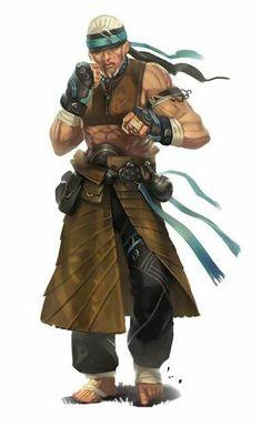 Human Monk Brawler - Pathfinder PFRPG DND D&D d20 fantasy