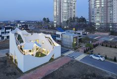 "homeworlddesign: "" Flying House / IROJE KHM Architects """