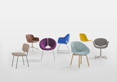 Artifort by van Til Interieur Alkmaar. Iconic chairs: Mood by René Holten (2014),  Gap by Khodi Feiz (2007), Beso by Khodi Feiz (2015), Little Tulip by Pierre Paulin (1965), Beso by Khodi Feiz (2015), Moulin by Pierre Paulin (1954), Little Apollo by Patrick Norguet (2002).