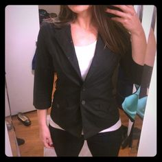 Express Lightweight Blazer Lightweight blazer from Express. Two button closure. 3/4 sleeves. No shoulder pads. Perfect blazer for a more casual look. Material is thinner than most other blazers. Great condition - no signs of wear and tear. Express Jackets & Coats Blazers