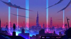 Neon Wave Futuristic City Wallpaper, HD Artist 4K Wallpapers, Images, Photos and Background - Wallpapers Den