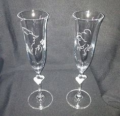 Disney Beauty and the Beast Crystal Champagne Flute Set  Sooo totally getting these