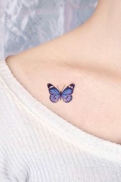 A collection of butterfly tattoo ideas for men and women, including this floral butterfly tattoo. Butterfly Tattoo Ideas For Men and Women Yellow Butterfly Tattoo, Realistic Butterfly Tattoo, Watercolor Butterfly Tattoo, Monarch Butterfly Tattoo, Butterfly Tattoo Meaning, Butterfly Tattoo On Shoulder, Butterfly Tattoos For Women, Butterfly Tattoo Designs, Shoulder Tattoos