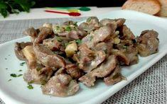 Mollejas de pollo al ajillo Tapas, Asparagus, Keto Recipes, Chicken Recipes, Good Food, Paleo, Lunch, Beef, Vegetables
