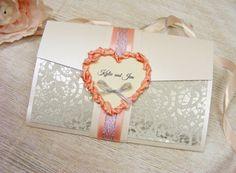 Glamour Wedding Invitation Personalized Wedding by HandMadeowo