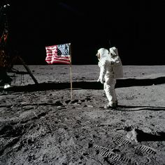 was there a better moment in American history than this... Buzz Aldrin salutes the flag. July 20, 1969