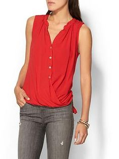 Velvet by Graham & Spencer Rani Top - like the style, not the color (red)