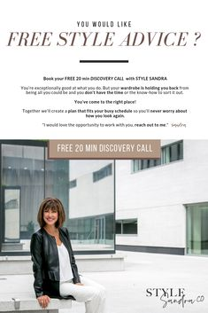 Book your FREE discovery call to share what is not working with your look. Personal Stylist, How To Know, Fashion Advice, Books Online, Stylists, Tips, Style, Swag, Fashion Tips