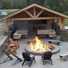Covered outdoor patio with fire pit. Covered outdoor patio with fi. - Covered outdoor patio with fire pit. Covered outdoor patio with fi. Covered outdoor patio with fire pit. Covered outdoor patio with fire pit. Backyard Pavilion, Backyard Patio Designs, Backyard Landscaping, Backyard Ideas, Backyard Layout, Landscaping Ideas, Firepit Ideas, Garden Ideas, Back Yard Patio Ideas