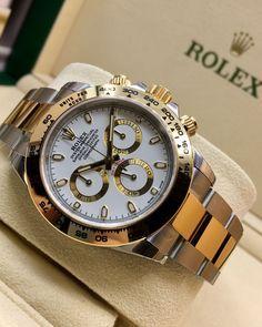 Rolex Daytona Steel, Rolex Watches For Men, Jr, Bracelet Watch, My Style, Gold, Accessories, Beautiful, Gucci Men