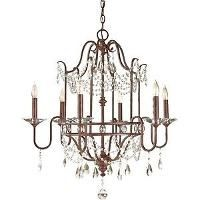 F2475/6MBZ - Murray Feiss Lighting - Gianna Scuro - Six Light Chandelier - Gianna Scuro (14817498356)