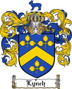 $7.99 Lynch Coat of Arms Lynch Family Crest Instant Download