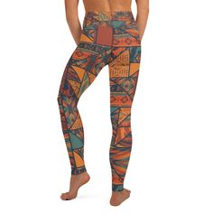 Graphics for our themed yoga leggings are sublimation printed onto the garment, giving you a bold, all-over design. Each pair of leggings is hand-cut and sewn in-house after printing. Breath Of The Wind, Yoga Session, Spandex Material, Yoga Leggings, Hand Sewing, Tights, Fashion, Navy Tights, Moda