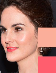 Michelle Dockery looking alive in Bright Spring makeup colors