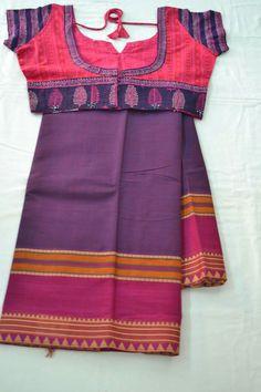Purple and violet saree