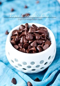 Vegan Chocolate Chips-top view
