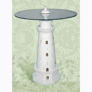 Pelican Bay Nautical Gifts TB-900 23.5 Dia x 30.5 H. Lighthouse Table