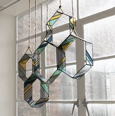 Stained Glass HEX Elements (set of 5) by BespokeGlassTile on Etsy https://www.etsy.com/listing/211123005/stained-glass-hex-elements-set-of-5