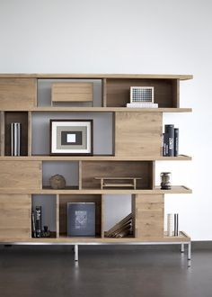 Open double-sided solid #wood #bookcase OAK LIGNA by Ethnicraft