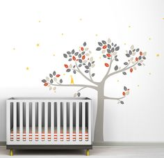 SUKID002- Little tree wall decal -4.5 Height (ft)  3. 5  Width (ft)