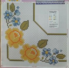 Cross Stitch Borders, Cross Stitch Patterns, Hobbies And Crafts, Diy And Crafts, Embroidery Patterns, Hand Embroidery, Bordado Tipo Chicken Scratch, Fillet Crochet, Housewarming Party