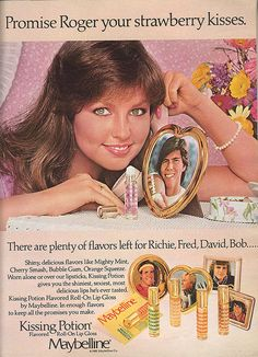 Kissing Potion lip gloss!  Recognize the girl?  She's from Valley Girl, one of my favorite 80's movies with Nicolas Cage.