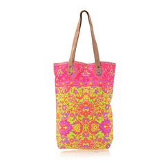 Jodi Lee Patterned Shopper with Leather Handles