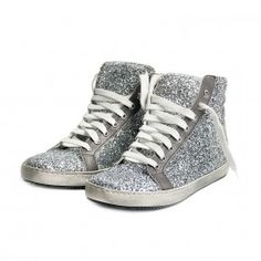 Glittered women's sneakers with leather ornaments and sewed rubber sole. vintage used effect. http://shop.mangano.com/en/shoes/16442-ginnica-robin-tir02glitter-ar.html   #shoes #sporty #fashion #apparel #clothing #woman #silver #mangano