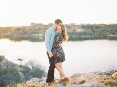 Beautiful Engagement Session Locations . photography: Holly Grace Photography  / location: Buffalo Springs Lake / film lab: Goodman Film Lab http://whitewren.com/sweet-desert-lake-engagement/