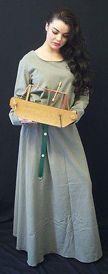 Medieval/LARP/Dark Age/Viking/Re enactment Sage KIRTLE Under Dress size 8- PLUS
