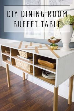 Learn how to build this dining room buffet! This is version and version 2 wil. - Learn how to build this dining room buffet! This is version and version 2 will have a welded met - Dining Room Buffet Table, Dining Room Sideboard, Buffet Tables, Dining Rooms, Diy Furniture Plans, Diy Furniture Projects, Diy Projects, Project Ideas, Diy Interior