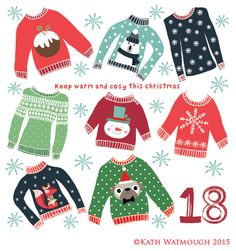 Day 18. Christmas jumper day! :) https://www.facebook.com/Kath-Watmough-Designs-679761895379928/