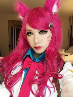 league of legends ahri cosplay academ---school queen ahri