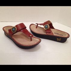 Algeria thong sandals Reddish color Worn a few times more info and pictures available Algeria Shoes Sandals