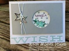 This was July's Paper Pumpkin. Hmmm, could see working with this idea with the new Stars Framelits and Be The Star stamp set, and the Itty Bitty Accents Punch Pak for the stars.