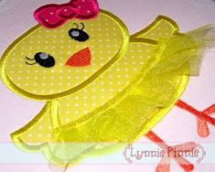 So cute and includes easy step-by-step photo instructions! This design is to be used on an embroidery machine. Easter Pillows, Machine Embroidery Designs, Tutu, 4x4, Applique, Coin Purse, Valentines, Stitch, Skirt