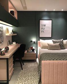 14 modern bedroom design ideas you should already own 00013 Teen Room Decor, Room Ideas Bedroom, Small Room Bedroom, Home Decor Bedroom, Small Bedroom Interior, Small Rooms, Teen Bedroom Designs, Modern Bedroom Design, Stylish Bedroom