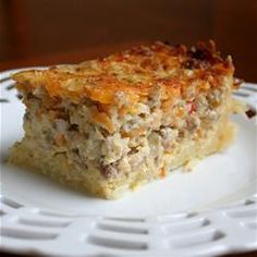 Find easy breakfast casserole recipes you can whip up for overnight guests or make ahead in your crock pot. Pick from popular recipes like hash brown casserole and sausage breakfast casserole. What's For Breakfast, Breakfast Dishes, Breakfast Recipes, Country Breakfast, Breakfast Crockpot, Breakfast Potatoes, Breakfast Smoothies, Breakfast Casserole Sausage, Potato Casserole