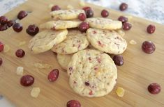 Cranberry Ginger Sugar Cookies ~ Day 1 of the 12 Days of Cookies '12 - 365 Days of Baking