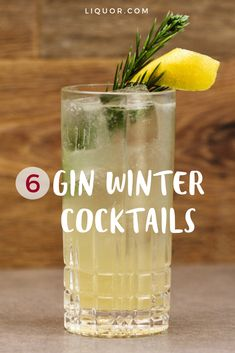 Warm up with these 6 winter cocktails that are perfect for sipping in cold weather. From smoky and sweet, to warm and herbal-- theres something for everyone. Cocktails 6 Gin Drinks Perfect for Sipping by the Fireplace Winter Cocktails, Bourbon Cocktails, Beach Cocktails, Cocktails Using Gin, Gin Mixed Drinks, Sweet Cocktails, Christmas Cocktails, Cocktail Menu, Cocktail Glass