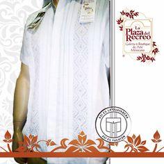 Guayaberas de lino fino con bordados únicos elaborados por las manos artesanales de la comunidad Maya Informes al tel. 924 88 21