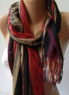 100 pashmina  burgundy  soft pashmina  shawl / by womann on etsy, $19.90