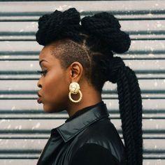 Mohawk twist hairstyles for black women