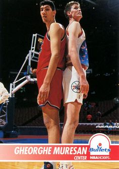 Gheorghe Muresan and Shawn  Bradley Measuring Up